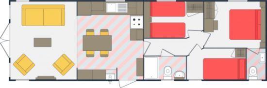 Holiday Homes For Sale At Bunn Leisure - Sunseeker Spirit - Floor Plan