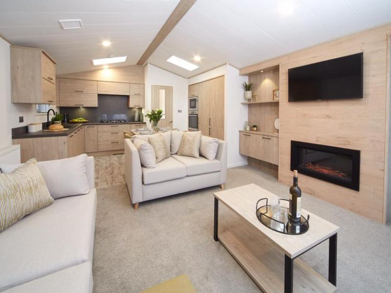 Bunn Leisure Properties For Sale - Atlas Jasmine Lodge - Living Area