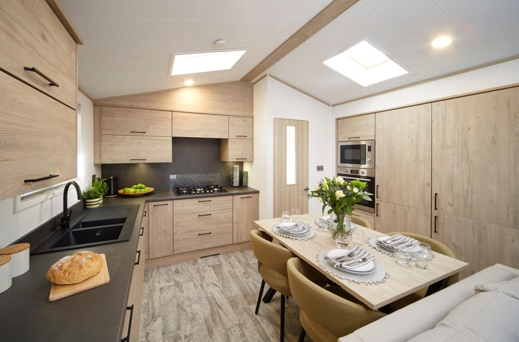Bunn Leisure Properties For Sale - Atlas Jasmine Lodge - Kitchen